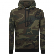 Product Image for Calvin Klein Camo Logo Hoodie Green