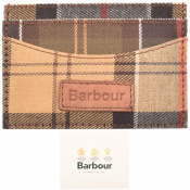 Barbour Mixed Tartan Card Holder Brown