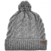 Barbour Seaton Pom Beanie Hat Grey