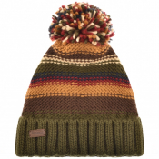 Barbour Cable Knit Harrow Beanie Hat Green