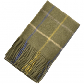 Barbour Tattersal Lambswool Scarf Green