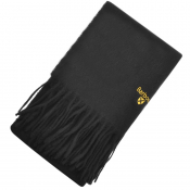 Barbour Plain Lambswool Scarf Black