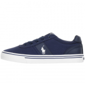 Ralph Lauren Hanford Canvas Trainers Navy