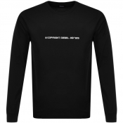 Diesel T Just Copy Long Sleeve T Shirt Black