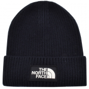 The North Face Logo Beanie Hat Navy