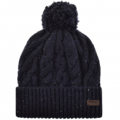 Barbour Seaton Pom Beanie Hat Navy