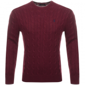 Ralph Lauren Cable Knit Jumper Burgundy