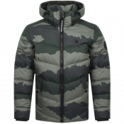 G Star Raw Whistler Down Puffer Jacket Green