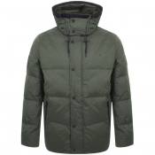 Product Image for Calvin Klein Logo Hooded Quilt Jacket Green