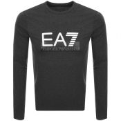 EA7 Emporio Armani Long Sleeved Logo T Shirt Grey
