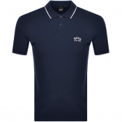 BOSS Athleisure Paul Curved Polo T Shirt Nvay