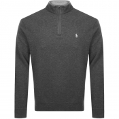Product Image for Ralph Lauren Long Sleeve Half Zip Sweatshirt Grey
