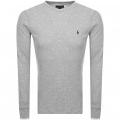 Product Image for Ralph Lauren Long Sleeved Waffle T Shirt Grey