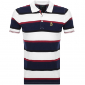 Luke 1977 Stripe New Mead Polo T Shirt White