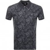Pretty Green Paisley Polo T Shirt Black