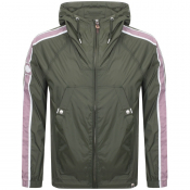 Pretty Green Harrington Hooded Jacket Green