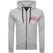 Product Image for Superdry Vintage Logo Full Zip Hoodie Grey