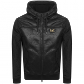 EA7 Emporio Armani Hooded Logo Jacket Black