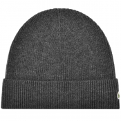 Lacoste Ribbed Beanie Grey