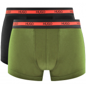 HUGO Two Pack Boxers Khaki