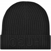 Product Image for HUGO X565 Beanie Hat Black