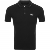 EA7 Emporio Armani Short Sleeved Polo TShirt Black