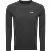 EA7 Emporio Armani Long Sleeved Core T Shirt Grey