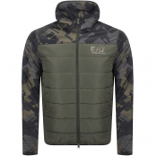EA7 Emporio Armani Quilted Hooded Jacket Khaki