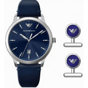 Emporio Armani AR80032 Watch Gift Set Blue