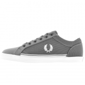 Fred Perry Baseline Microfibre Trainers Grey