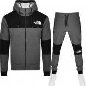 The North Face Himalayan Full Zip Tracksuit Grey