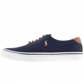 Ralph Lauren Thorton Canvas Trainers Navy