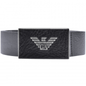 Product Image for Emporio Armani Logo Leather Belt Navy