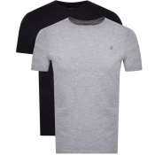 Product Image for Farah Vintage Pinehurst Double Pack T Shirts Grey