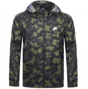 Product Image for Nike Windbreaker Camouflage Jacket Khaki