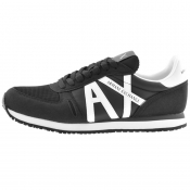 Armani Exchange Logo Trainers Black