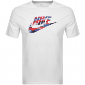 Product Image for Nike Crew Neck Camo Logo T Shirt White