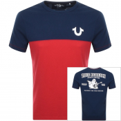True Religion Americana Football T Shirt Navy
