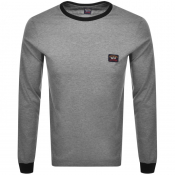 Product Image for Paul And Shark Long Sleeve Logo T Shirt Grey