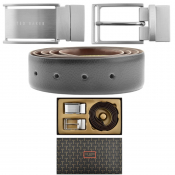 Ted Baker Double Buckle Belt Gift Set Black