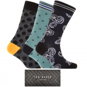 Ted Baker Bunche 3 Pack Socks Gift Set Navy