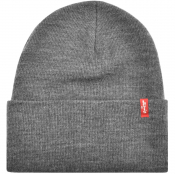 Product Image for Levis Slouchy Red Tab Beanie Hat Grey
