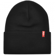 Product Image for Levis Slouchy Red Tab Beanie Hat Black