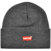 Product Image for Levis Batwing Slouchy Beanie Hat Grey