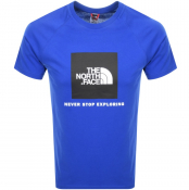 The North Face Raglan Redbox T Shirt Blue