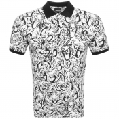 Just Cavalli Short Sleeved Polo T Shirt White