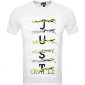 Just Cavalli Logo T Shirt White