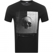 Just Cavalli Skull Logo T Shirt Black