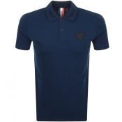 Product Image for Rossignol Short Sleeved Patch Polo T Shirt Navy