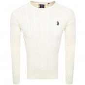 Luke 1977 Hortons Cable Knit Jumper Cream